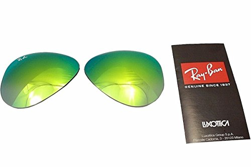 Ray Ban RB3025 3025 RayBan Sunglasses Replacement Lens Mirror Grad Green Size-58 - Ray Ban Replacement Lenses 3025