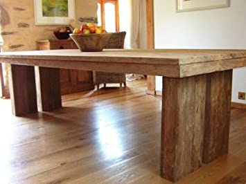 Grande table salle à manger en teck recyclé: Amazon.fr ...