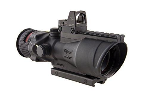 Gun Combat Optical Advanced Acog (Trijicon TA648RMR ACOG 6x48 Machine Gun Optic, Dual Illuminated Red Chevron .223 Ballistic Reticle, 6.5 MOA RMR Sight)