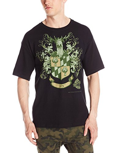 Liquid Blue Men's Monty Python Knights Of Ni Crest T-Shirt, Black, - Black Monty