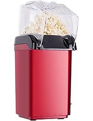 EverKing Hot Air Popcorn Maker Popper Popping Machine 1200 Watts Red