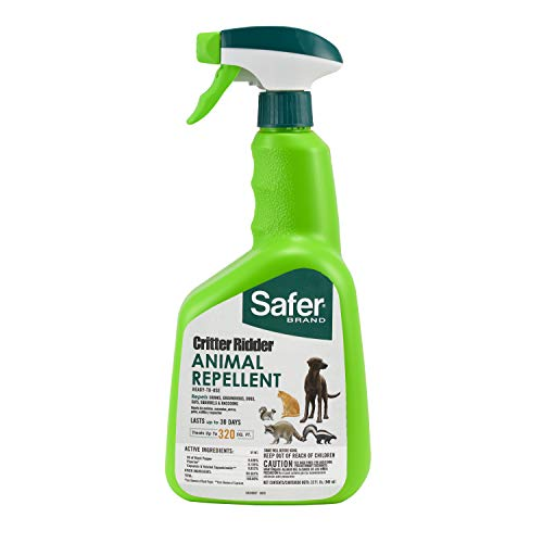 Safer Brand 5935 Critter Ridder Animal Repellent Ready-to-Use Spray-32 oz - Cat Havahart Repellent