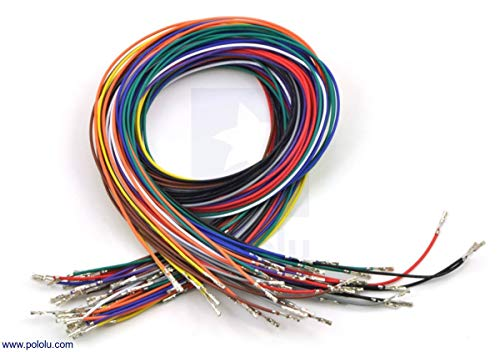 Pololu Wires with Pre-Crimped Terminals 50-Piece 10-Color Assortment F-F (Item 2006)