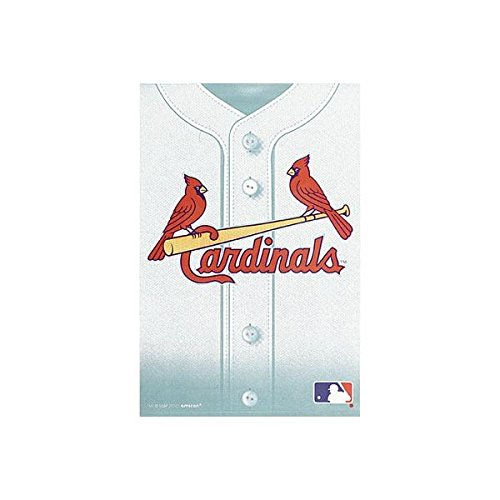 Amscan Sports & Tailgating MLB St. Louis Cardinals Loot Bags (8 Pack), White/Red/Yellow, 7.3 x (White Loot Bags)