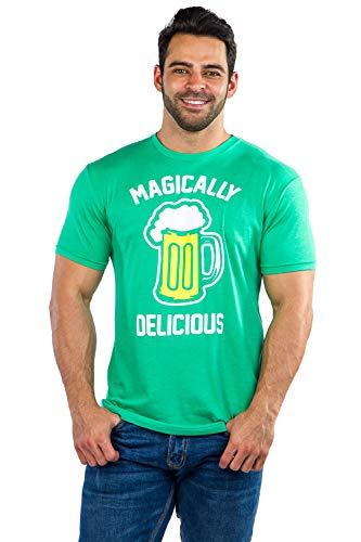 Men's Funny St. Patrick's Day Shirts - St. Patty's Day T-Shirts Apparel for Guys (Magically Delicious, XX-Large)