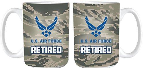 U.S. Air Force Retired Digital Camo 15oz. Coffee - Mug Force Air Coffee