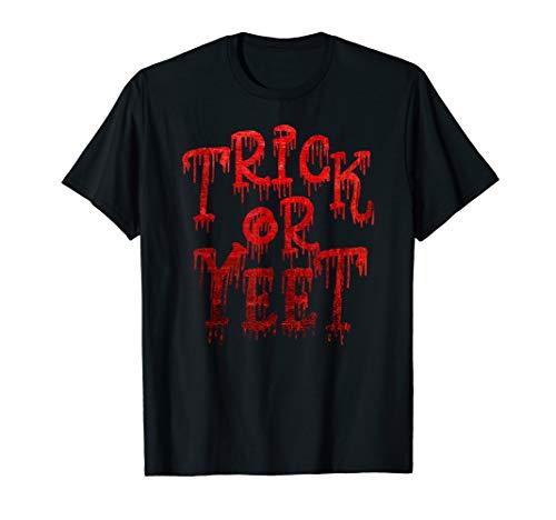 Halloween Pun Meme (Trick Or Yeet - Blood Red Fun Halloween Costume Party Meme)
