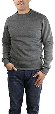 ToBeInStyle Men's Long Sleeve Crew Neck Cotton-Poly Blend Sweatshirt