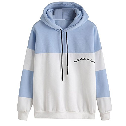 Big Promotion! Toimoth Women Striation Hoodie Sweatshirt Jumper Sweater Crop Pullover Tops(White,S) ()