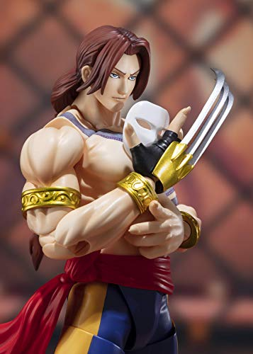 TAMASHII NATIONS Bandai S.H. Figuarts Vega Street Fighter Action Figure, Yellow, Standard (B07NZ88SD8)