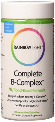 - Rainbow Light - Complete B-Complex, 90 Count, Food Based, Energy Support