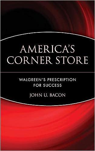 americas corner store walgreens prescription for success john u bacon 0723812479634 amazoncom books - Walgreens Prescription Card