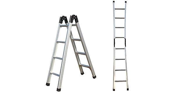JJJJD Escalera de Aluminio de Espesor Inicio Escalera Plegable, telescópica 1,5M 3M despliegue Individual Escalera, Multi-función de Escalera Cocina Oficina al Aire Libre: Amazon.es: Hogar