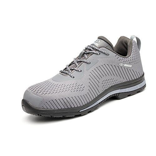 ZC unisex steel toe work shoes industrial&construction shoes puncture proof safety shoes (man 10, 04 ()