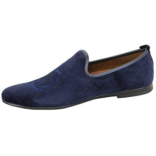 nappe Stilista On Uomo Mocassino Blu Slip Stile Vitale Italiano Mocassini da Scarpe Scamosciato G1619 Effetto qXwIn4v