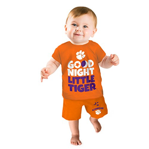 (NCAA Clemson Tigers Boys Short Pajama Set, 12-18 Months,)