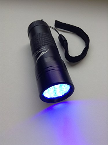UV LED Flashlight, including silicone holder-pet Stain Detector- Powerful Stain Finder-black Hard Aluminum Design- It Detects Dogs , Mouse , Cat Urine on Carpets, Blankets, Sofas, Chairs or Other Kind of Furniture Where It Is No Visible to the Eye. Array Small Back Chair