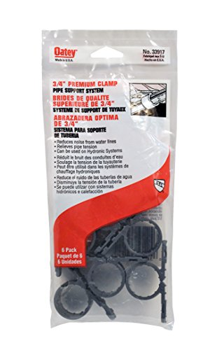 Oatey 33917 Standard Pipe Clamp (6 in Polybag), Gray, 3/4-Inch ()