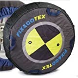 CMD - Chaine neige chaussette enveloppe textile hiver homologué B26 fix & go tex 8ZFE pour toutes les tailles : 165/14 - 175/75/14 - 185/70/14 - 185/65/15 - 195/60/15 - 195/55/16 - 215/50/16 - 175/55/17 - 205/45/17 - 215/45/17 - 235/40/17 - 225/35/18