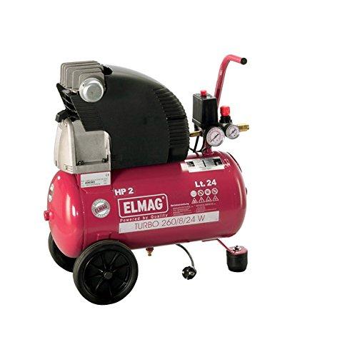 TURBO Elmag 260/8/24 W - compresor Universal - 230 V: Amazon.es: Bricolaje y herramientas