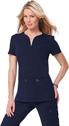 KOI Sapphire Womens Y Neck Solid