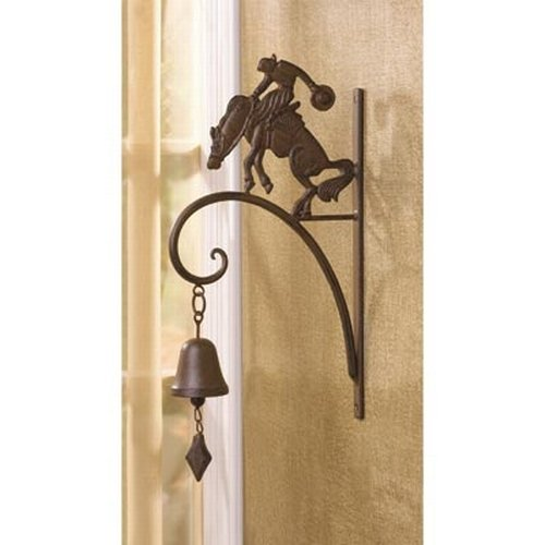 Gifts & Decor Distressed Cowboy Bucking Bronco Bell Wall Decoration
