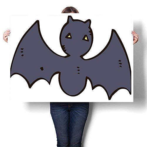 (Anyangeight Home Decor Halloween Illustration of Bat Decorative Fine Art Canvas Print Poster K 36
