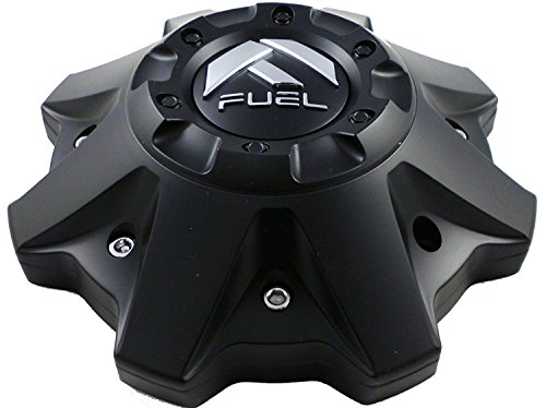 (Fuel Matte Black Chrome Rivets Wheel Center Caps One (1) 1002-53B M-447 8-Lug (WITH SCREWS))