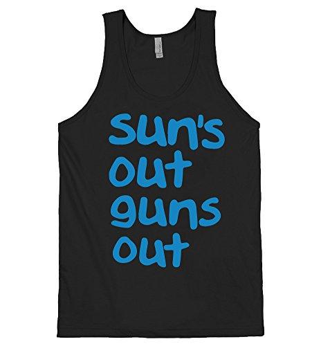 DirtyRagz Men's Sun's Out Guns Out Tank Top Suns 2XL Black (Suns Out Guns Out Shirt Tank Top)