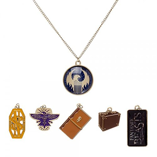 Fantastic Beasts and Where To Find Them Charm Necklace (Harry Potter Themed Costumes)