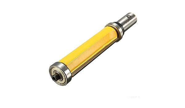 Vástago de 1/2 pulgada para fresadora con rodamiento inferior, herramienta de carpintería: Amazon.es: Hogar