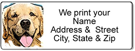 Golden Retriever return Address Label 21553 Personalized Address Label Man/'s Best Friend