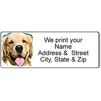 amazon com golden retriever address label customized return