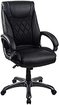 LCH High-Back Bonded Leather & Mesh Computer Office Chair
