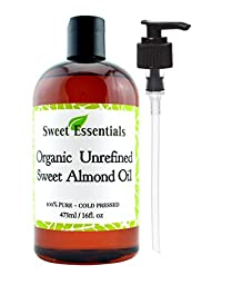 100% Pure Organic Unrefined Sweet Almond Oil - Various Sizes - Imported From Italy - Great Anti Aging Moisturizer for Your Face, Skin, Hair and Nails - Wonderful Massage Oil - Perfect Choice for a Relaxing Bath Oil - Almond Oil is an All Natural Baby Oil