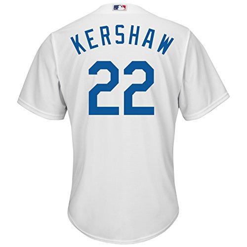 - Majestic Clayton Kershaw Los Angeles Dodgers #22 Youth Cool Base Home Jersey (Large 14/16)