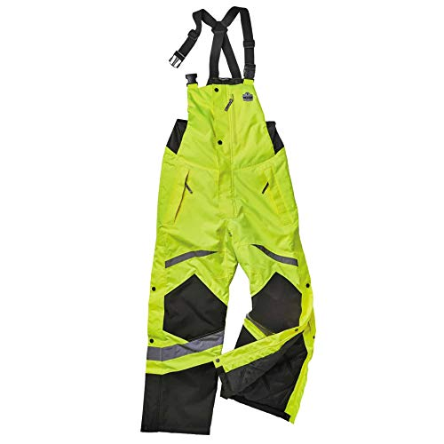 Insulated Bib Overalls, High Visibility, Weather-Resistant, 3XL, Ergodyne GloWear 8928