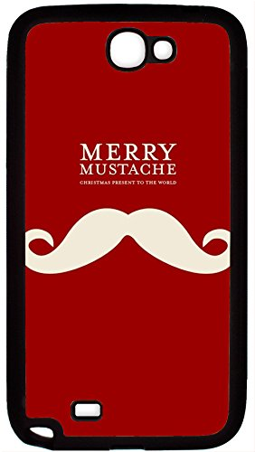 Zenzzle TPU Rubber Case for Samsung Galaxy Note 2 - Merry Mustache Christmas Present To The World