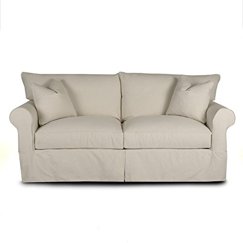 Klaussner JENNY Sofa, Natural (Natural Stationary Sofa)