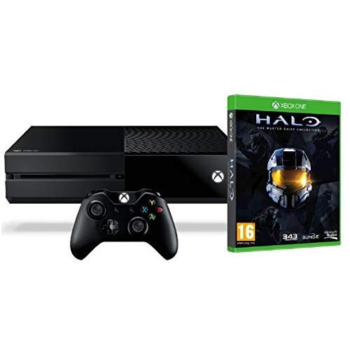 Xbox One 500GB Console – Halo: The Master Chief Collection Bundle (Renewed)
