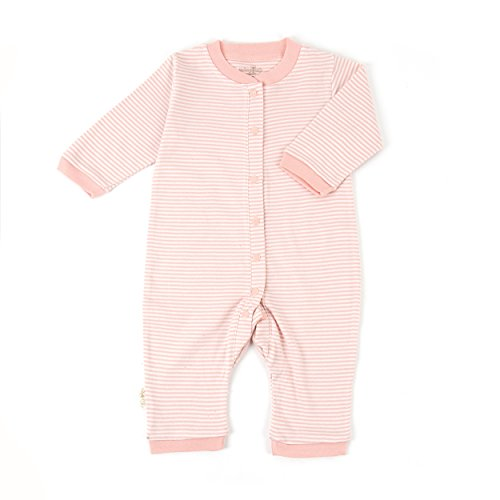 Tadpoles Organic Cotton Footless Snap Front Romper, Salmon, 6-9 Months