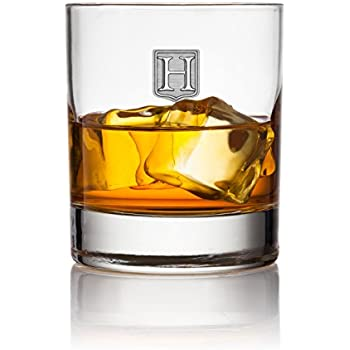 Crested Classic Whiskey Glass 2pk - Letter (H)