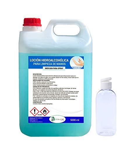 🥇 Ecosoluciones Químicas ECO- 901 | 5 litros | Loción Hidroalcohólica para manos | 70% alcohol garantizado | Somos fabricantes
