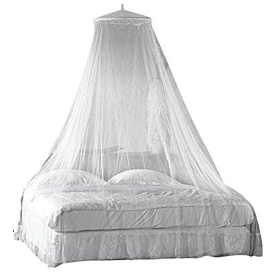 Harrington Marley Moustiquaire de baldaquin Taille de lit max. king size Blanc Pour camping et vacances