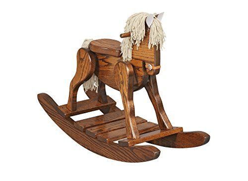 AmishMade Wooden Rocking Horse (Antique Wooden Rocking Horse)