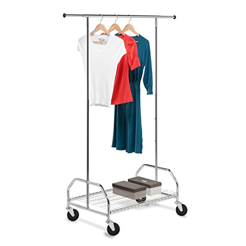 Honey-Can-Do Bottom Shelf Expandable Chrome Garment Rack