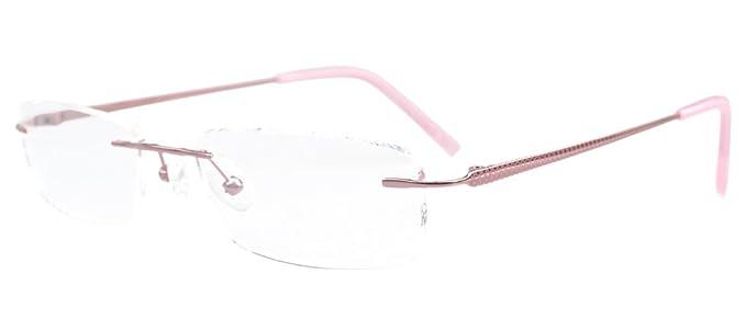 b81120dbd5 Amazon.com  Eyekepper Rimless Titanium Optical Eyeglasses Frame Half-eye  Style  Clothing
