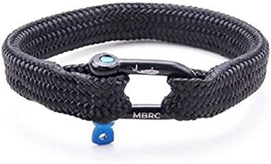 MBRC Humpback Bottle Robust bracelet in maritime look Surfer rope bracelet made from 100/% recycled plastic