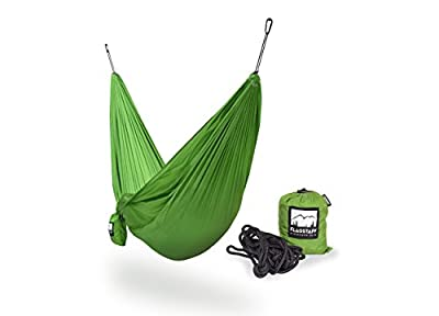 Fremont Camping Hammock - Portable Lightweight Parachute Nylon - Includes Hanging Kit - Heavy Duty Ropes and Carabiners