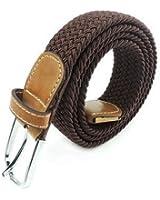 Ducomi® Sails - Cintura Elastica Unisex in Corda Intrecciata con Dettagli in Cuoio e Fibbia Classica - Idea Regalo di Natale per Uomo e Ragazzo - Lunghezza 101 cm